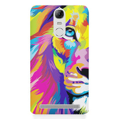 Colourfully Painted Lion design,  Lenovo K5 note printed back cover