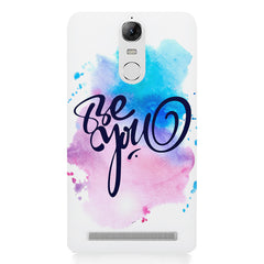 Be yourself design Lenovo K5 note printed back cover