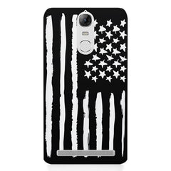 American Flag design Lenovo K5 note printed back cover