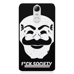 Fuck society design Lenovo K5 note printed back cover