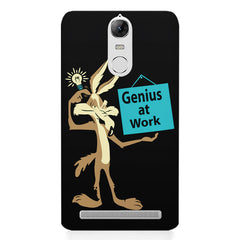 Genius at work design Lenovo K5 note printed back cover