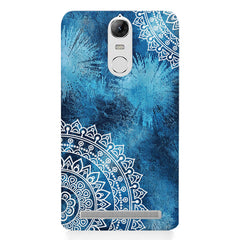 A Vivid Blue ethnic yet cool pattern Lenovo k5 note hard plastic printed back cover