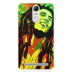 Bob Marley Multi colour fun Portrait Painting  capturing him in his happy avatar Lenovo k5 note hard plastic printed back cover