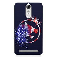 American Wolf design    Lenovo k5 note hard plastic printed back cover