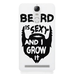 Beard is sexy & I grow it quote design    Lenovo k5 note hard plastic printed back cover