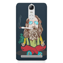 Baba Smoking Cigar design Lenovo k5 note hard plastic printed back cover