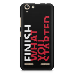 Finish What You Started - Quotes With Determination design,  Lenovo lemon 3 printed back cover