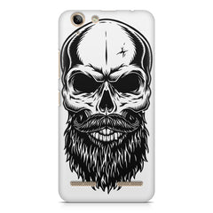 Skull with the beard  design,  Lenovo Vibe k5/K5 plus printed back cover
