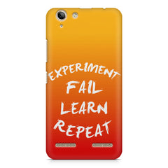 Experiment Fail Learn Repeat - Entrepreneur Quotes design,  Lenovo lemon 3 printed back cover
