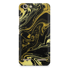Golden black marble design Lenovo Vibe k5/K5 plus printed back cover