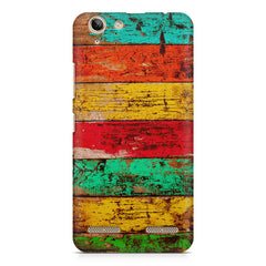 Strips of old painted woods  Lenovo lemon 3 printed back cover