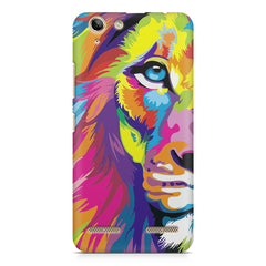 Colourfully Painted Lion design,  Lenovo Vibe k5/K5 plus printed back cover