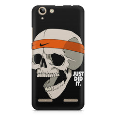 Skull Funny Just Did It !  design,  Lenovo Vibe k5/K5 plus printed back cover