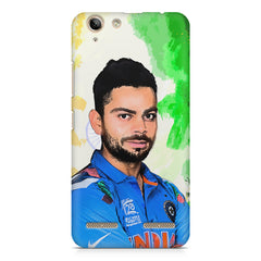 Virat Kohli Oil Painting India design,  Lenovo Vibe k5/K5 plus printed back cover