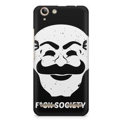 Fuck society design Lenovo Vibe k5/K5 plus printed back cover