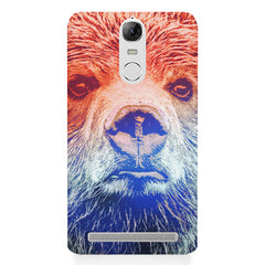 Zoomed Bear Design  Lenovo lemon 3 hard plastic printed back cover