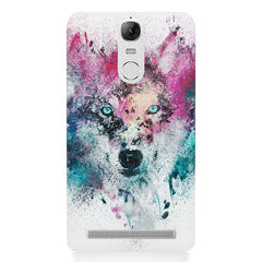 Splashed colours Wolf Design Lenovo lemon 3 hard plastic printed back cover