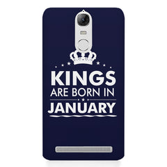 Kings are born in January design    Lenovo lemon 3 hard plastic printed back cover