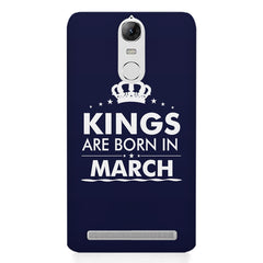 Kings are born in March design    Lenovo lemon 3 hard plastic printed back cover