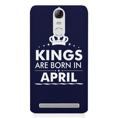 Kings are born in April design    Lenovo lemon 3 hard plastic printed back cover