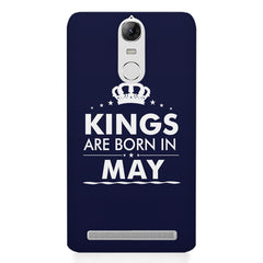 Kings are born in May design    Lenovo lemon 3 hard plastic printed back cover