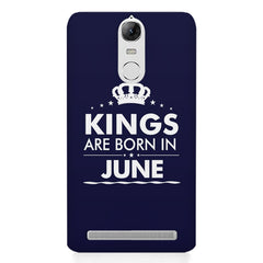 Kings are born in June design    Lenovo lemon 3 hard plastic printed back cover