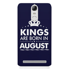 Kings are born in August design    Lenovo lemon 3 hard plastic printed back cover