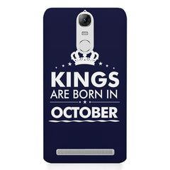 Kings are born in October design    Lenovo lemon 3 hard plastic printed back cover