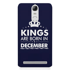 Kings are born in December design    Lenovo lemon 3 hard plastic printed back cover