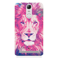 Zoomed pixel look of Lion design Lenovo lemon 3 hard plastic printed back cover