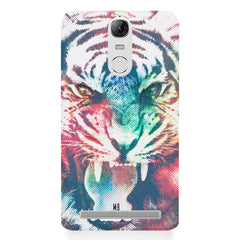 Tiger with a ferocious look Lenovo lemon 3 hard plastic printed back cover