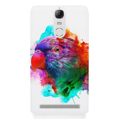 Colourful parrot design Lenovo lemon 3 hard plastic printed back cover