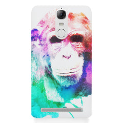 Colourful Monkey portrait Lenovo lemon 3 hard plastic printed back cover