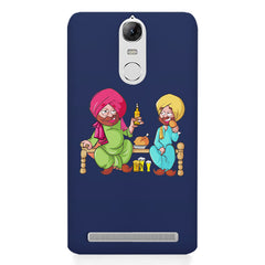 Punjabi sardars with chicken and beer avatar Lenovo lemon 3 hard plastic printed back cover