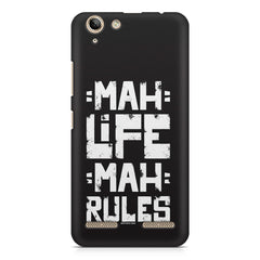 Mah Life Mah Rules Quirky design,  Lenovo Vibe k5/K5 plus printed back cover