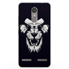 Black And White Lion Vibe K6 printed back cover
