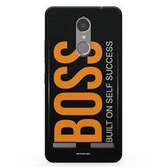 Boss Built On Self Success For Entrepreneurs In Yellow Vibe K6 printed back cover