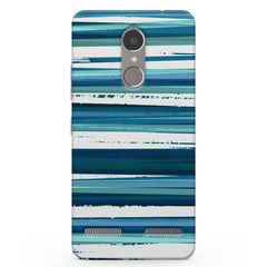 Blue And White Stripes Texture  Vibe K6 printed back cover