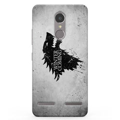 Winter is coming GOT Lenevo K6 printed back cover