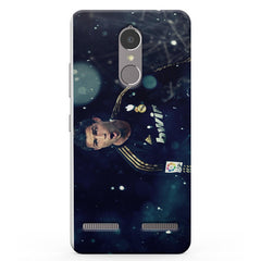 Ronaldo black jersey design Lenevo K6 printed back cover
