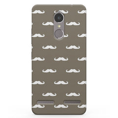 White moustaches Lenevo K6 printed back cover