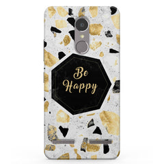Be Happy Simple Text Quotes Vibe K6 printed back cover