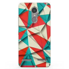 3D Colourful shapes Vibe K6 printed back cover