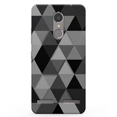 BnW Diamond Patterns Vibe K6 printed back cover