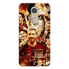 Messi  design,  Lenovo k6 note printed back cover