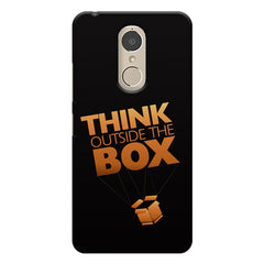 Think Outside The Box- Entrepreneur Lines design,  Lenovo k6 note printed back cover