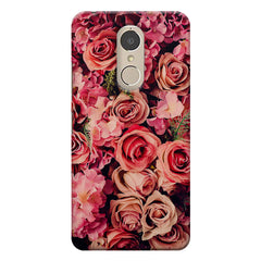 Roses  design,  Lenovo k6 note printed back cover