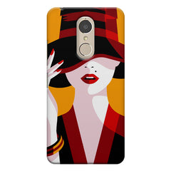 Classy girl  design,  Lenovo k6 note printed back cover