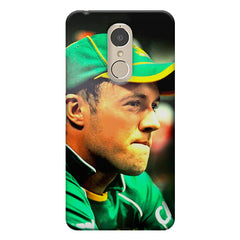 AB de Villiers South Africa  Lenovo k6 note printed back cover