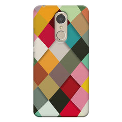 Graphic Design diamonds   Lenovo k6 note printed back cover